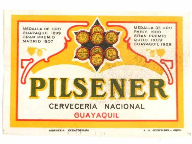 Pilsner, 1913 - Quito Ecuador